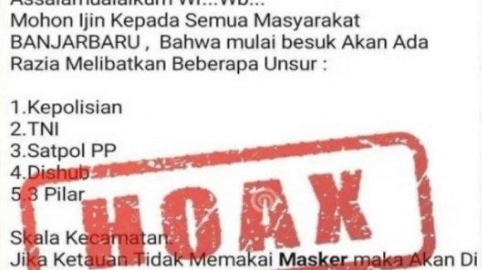 Informasi Hoax Ramai Beredar di Grup Medsos Kota Banjarbaru, Begini Tanggapan dari Polres Banjarbaru
